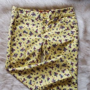 [Anthropologie Cartonnier] Yellow floral capris